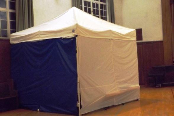 ホームレスシェルターのテント