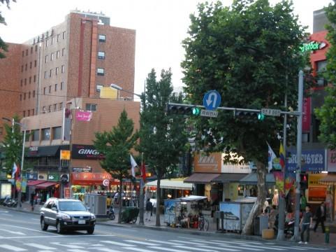 韓国の街中