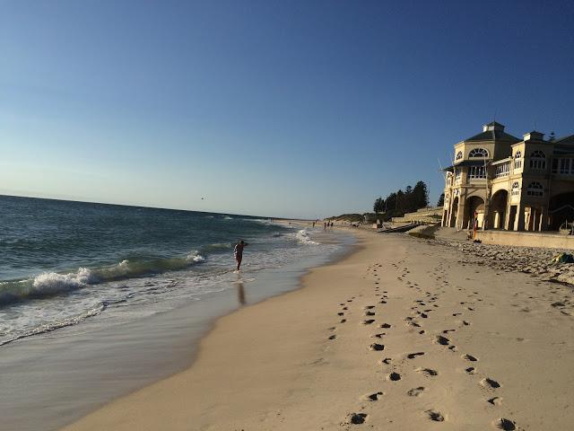 パースのビーチ