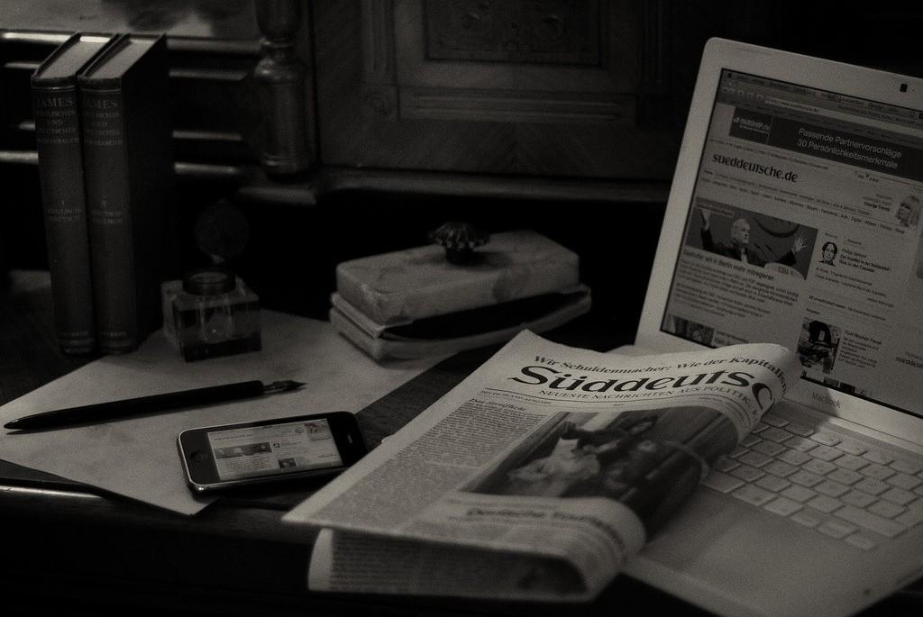 a Sueddeutsche Zeitung newspaper