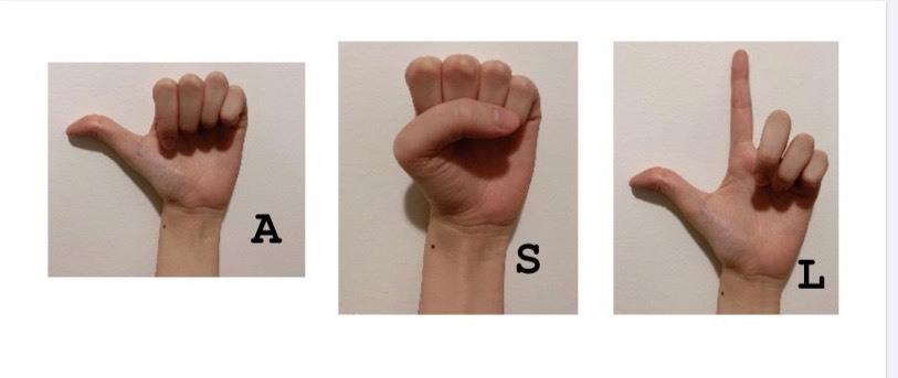 ASL指文字
